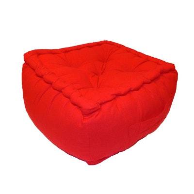 pouf rouge la redoute. Black Bedroom Furniture Sets. Home Design Ideas