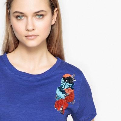 65f79b561 Camiseta con detalle de papagayo de lentejuelas Camiseta con detalle de  papagayo de lentejuelas La Redoute