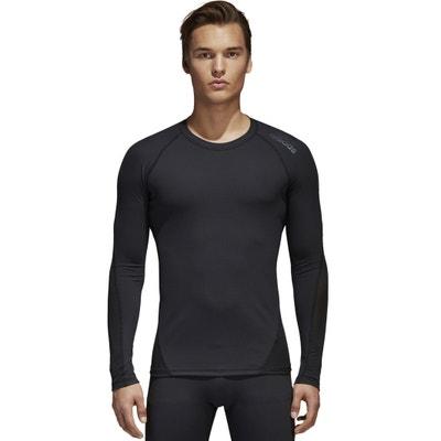 T-shirt con scollo rotondo tinta unita, maniche lunghe T-shirt con scollo rotondo tinta unita, maniche lunghe ADIDAS PERFORMANCE