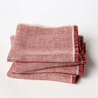 Set of 4 Linette Chevron Weave Linen Napkins AM.PM.
