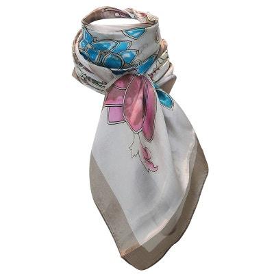 Grand foulard de soie papillon floral Grand foulard de soie papillon floral  CHAPEAU-TENDANCE 2c1001a4f39