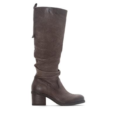 Shaggy Leather Boots Shaggy Leather Boots MJUS