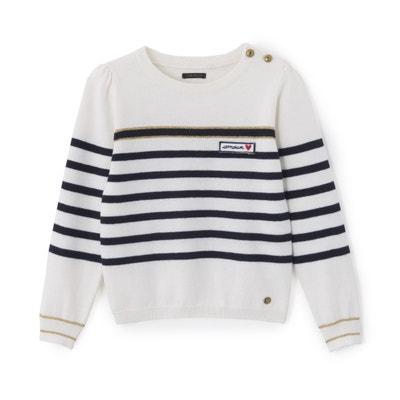 Пуловер с круглым вырезом из тонкого трикотажа Пуловер с круглым вырезом из  тонкого трикотажа IKKS JUNIOR 5482d0a20ef