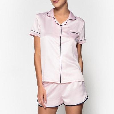 Satin Pyjama Shirt and Shorts Set HECHTER STUDIO