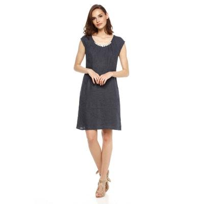 robe tunique encolure ronde en lin ROMANTIK DALIA DOUCEL