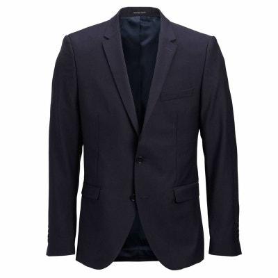 Veste de costume cintrée 100% laine Bleu SELECTED HOMME f694ba85f8b