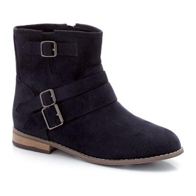 Boots détail boucles pied large 38-45 CASTALUNA