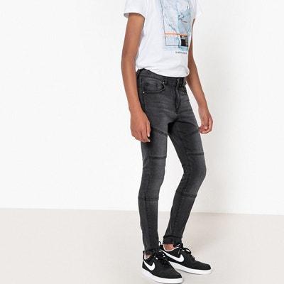 pantalon jean ado gar on 10 16 ans la redoute. Black Bedroom Furniture Sets. Home Design Ideas