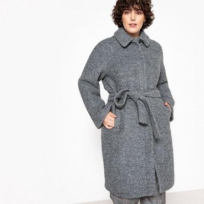 Manteau mi-long à ceinturer, 51 % laine Manteau mi-long à ceinturer, 51 % laine CASTALUNA