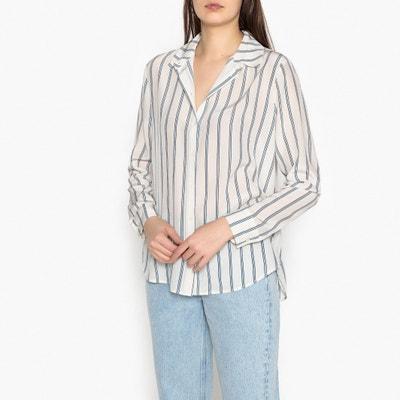 Maj Striped Silk Shirt SAMSOE AND SAMSOE