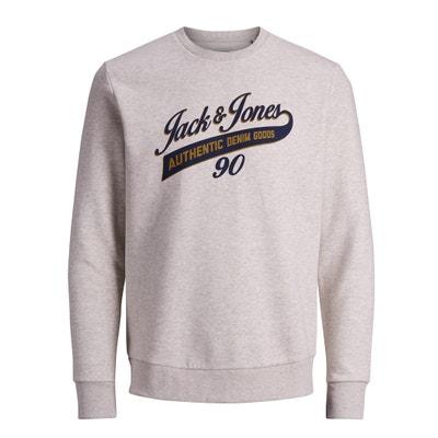 Crew Neck Sweatshirt with Print on Front Crew Neck Sweatshirt with Print on Front JACK & JONES