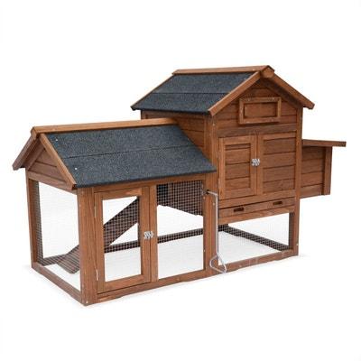 Poulailler en bois GALINETTE, cage à poule de 151x69,5x92,5cm Poulailler en bois GALINETTE, cage à poule de 151x69,5x92,5cm ALICE S GARDEN