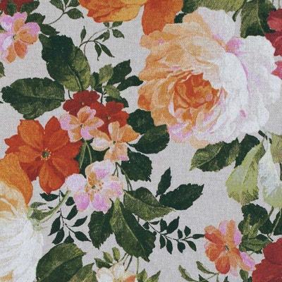 Tissu toile coton floral vintage Tissu toile coton floral vintage CAREFIL