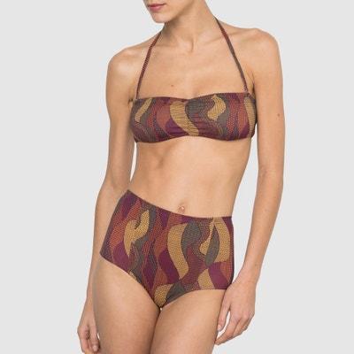 Sujetador de bikini tipo banda estampado La Redoute Collections