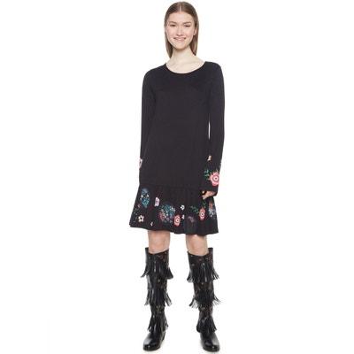 Korte wijde jurk met bloemenmotief Korte wijde jurk met bloemenmotief DESIGUAL
