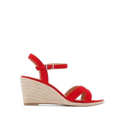Suede Wedge Sandals JONAK