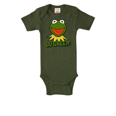 Body bébé Kermit la Grenouille - Muppet Show - Go Green - vert olive Body  bébé 14d0de54559