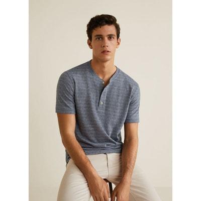 T-shirt col tunisien jaspé T-shirt col tunisien jaspé MANGO MAN. Soldes e8fd3f568e49