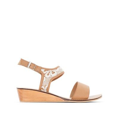 Wooden Wedge Heel Sandals CASTALUNA