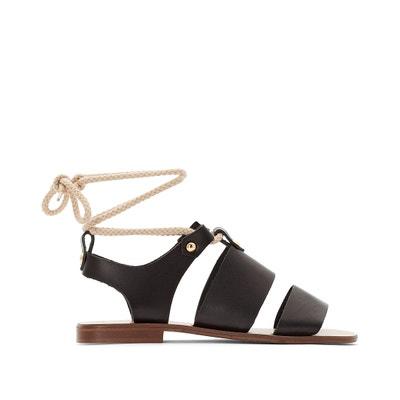 Fauve Leather Sandals JONAK