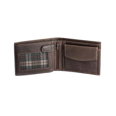 Portefeuille pour homme Vintage en cuir Fermeture intérieure protective pour les cartes de crédit et porte-monnaie DUDU