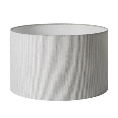 Abat-jour cylindrique Polyester HARRY Naturel et gris MADURA