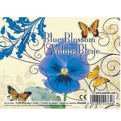 Jeu de cartes : Coffret de 2 x 55 cartes : Volute bleue PIATNIK