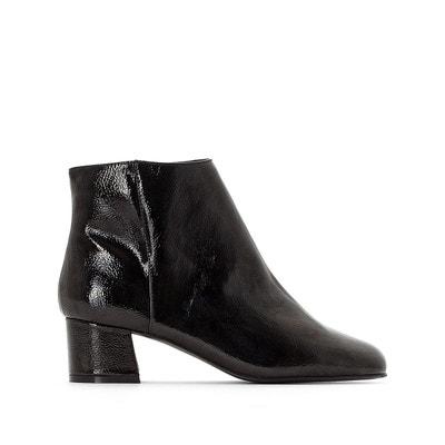 Boots vernis talon moyen Boots vernis talon moyen LA REDOUTE COLLECTIONS 897cabddaa53