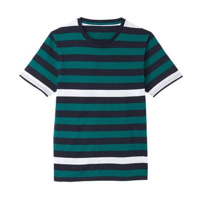 Camiseta con cuello redondo y manga corta Camiseta con cuello redondo y manga corta La Redoute Collections