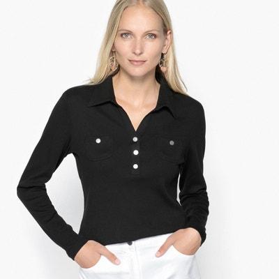 T-shirt collo polo, puro cotone pettinato ANNE WEYBURN