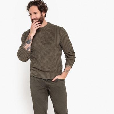 Пуловер с круглым вырезом из плотного трикотажа Пуловер с круглым вырезом из плотного трикотажа La Redoute Collections