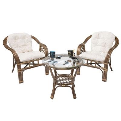 Salon de jardin - Table, chaises Rotin design en solde | La Redoute