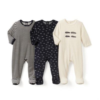 Confezione da 3 pigiama fantasia in velluto - Oeko Tex Confezione da 3 pigiama fantasia in velluto - Oeko Tex La Redoute Collections