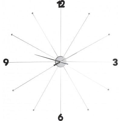 Horloge Umbrella Chrome et Noir Kare Design KARE DESIGN