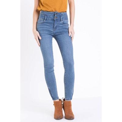 Jean taille haute bleu   La Redoute f4901df8b892