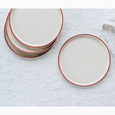 Confezione da 4 piatti per dessert in grès Confezione da 4 piatti per dessert in grès HELLO BLOGZINE X LA REDOUTE