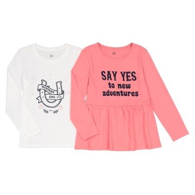 Lot de 2  t-shirts manches longues 3-12 ans Lot de 2  t-shirts manches longues 3-12 ans La Redoute Collections