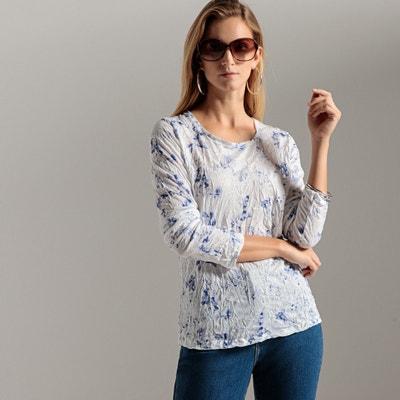 T-shirt fantasia, maglia stropicciata, maniche lunghe T-shirt fantasia, maglia stropicciata, maniche lunghe ANNE WEYBURN