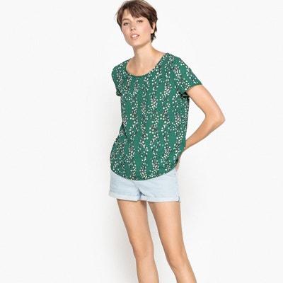 Bedruckte Bluse mit kurzen Ärmeln und Rundhalsausschnitt ONLY