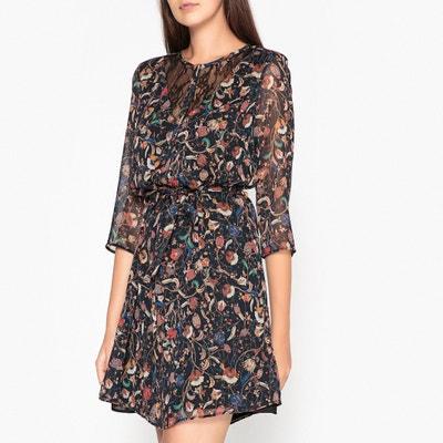 Langärmeliges Kleid mit Print in Glanzoptik Langärmeliges Kleid mit Print in Glanzoptik IKKS