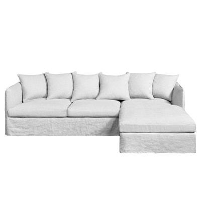 Canapé d'angle fixe Neo Chiquito, lin froissé Canapé d'angle fixe Neo Chiquito, lin froissé AM.PM