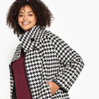 Manteau court, col montant en laine mélangée Manteau court, col montant en laine mélangée CASTALUNA