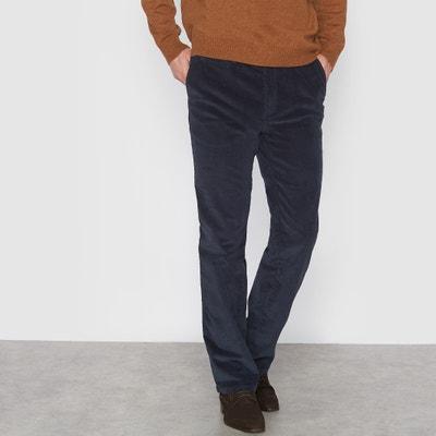 Chino broek in stretch fluweel CASTALUNA FOR MEN