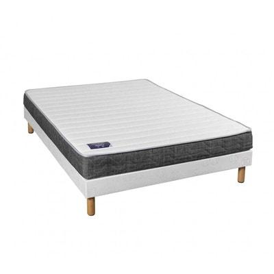 sommier 140x190 avec pieds en solde la redoute. Black Bedroom Furniture Sets. Home Design Ideas