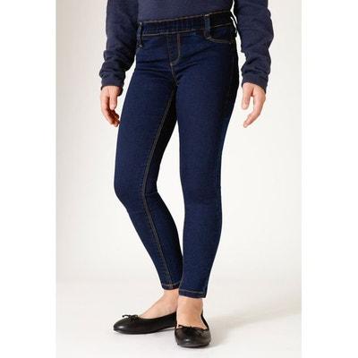a541af32ed810 Jeans coupe legging stretch taille haute élastiquée stone foncé RENATA Jeans  coupe legging stretch taille haute