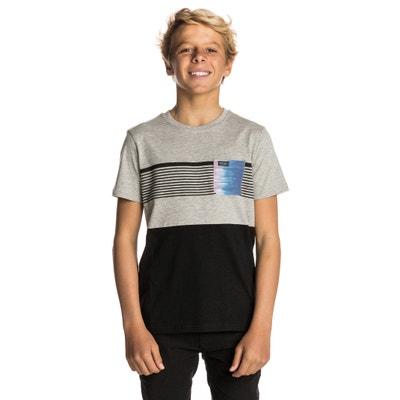 T-shirt scollo rotondo maniche corte fantasia davanti RIP CURL