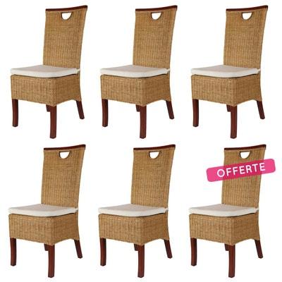 lot chaises rotin en solde la redoute. Black Bedroom Furniture Sets. Home Design Ideas