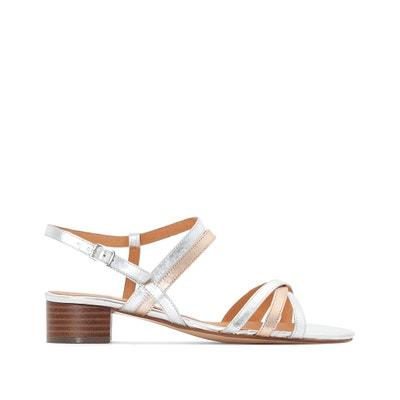 Sandales cuir bicolores à talon moyen Sandales cuir bicolores à talon moyen ANNE WEYBURN