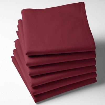 Serviettes de table unies, pur coton, (lot de 6) SCENARIO e84144e65ae