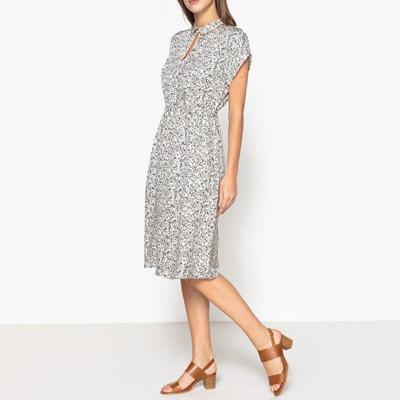 Bedrucktes Kleid mit kurzen Ärmeln HEYSEL Bedrucktes Kleid mit kurzen Ärmeln HEYSEL BELLEROSE